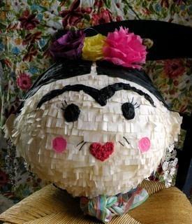 Fiesta, Frida Kahlo, piata, kids party, color fiesta