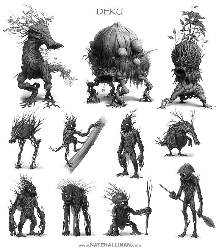 An interpretation on what real Deku might look like living deep in the forest. In the Legend of Zelda universe the Deku are a race of humanoid plant-like beings that often co-exist with other races. The term Deku often refers to certain plants or plant based items as well.
