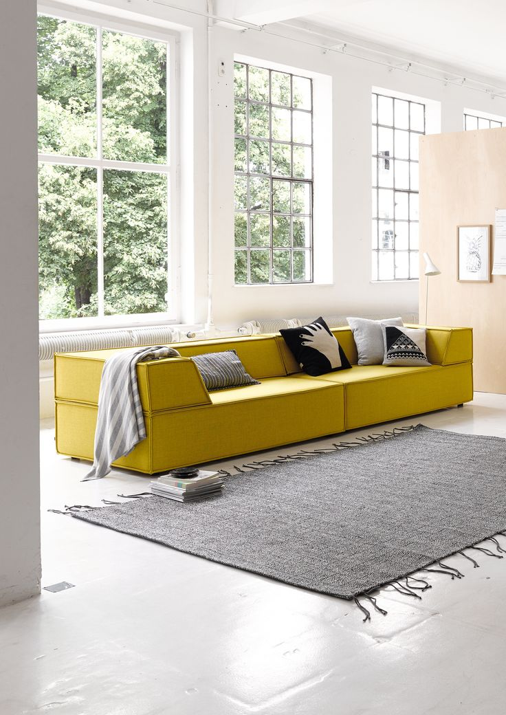 4 seater fabric sofa TRIO - @corsitzmoebel