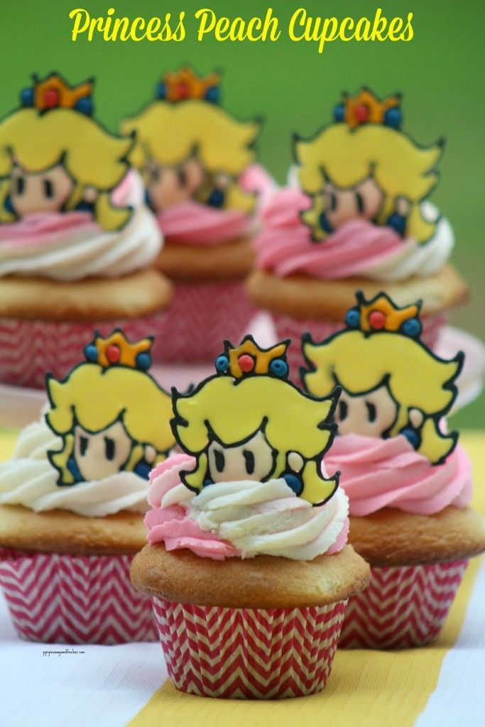 #PrincessPeach has been a fav of gaming fans for many yrs. Make these Princess Peach Cupcakes for a gaming themed birthday party or just to surprise the gamer in your life #PrincessPeachRocks