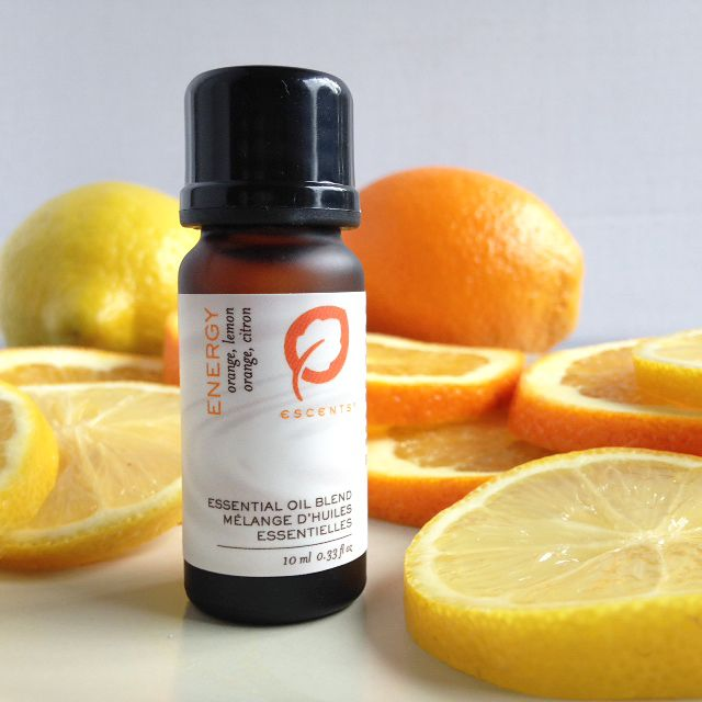 This stimulating blend will uplift your spirit and infuse vigor into your day. Lemon essential oil fights stress by helping to remove mental fatigue, while Orange essential oil creates a happy feeling and boosts immunity. escents.ca