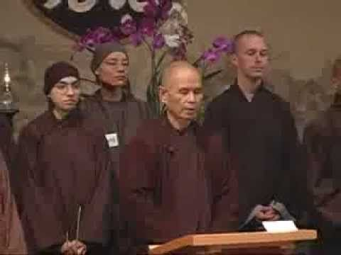 Simple Mindfulness, Thich Nhat Hanh. So heartwarming to see the brothers and sisters of Deer Park Monastery.