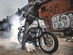 Royal Enfield Continental GT Turns Flat Tracker