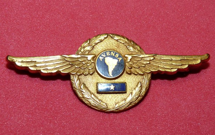 South America Venezuelan Airline Avensa Pan Am Airline Pilot PAA Wings Venezuela