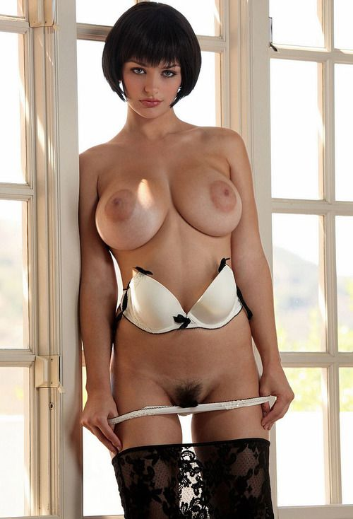Also Nude short hair brunette