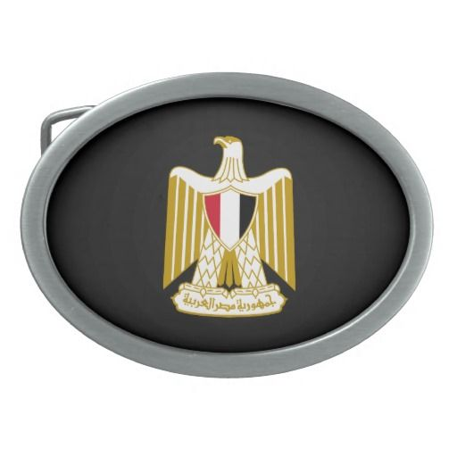 Egyptian coat of arms Belt Buckle Oval Belt Buckle
