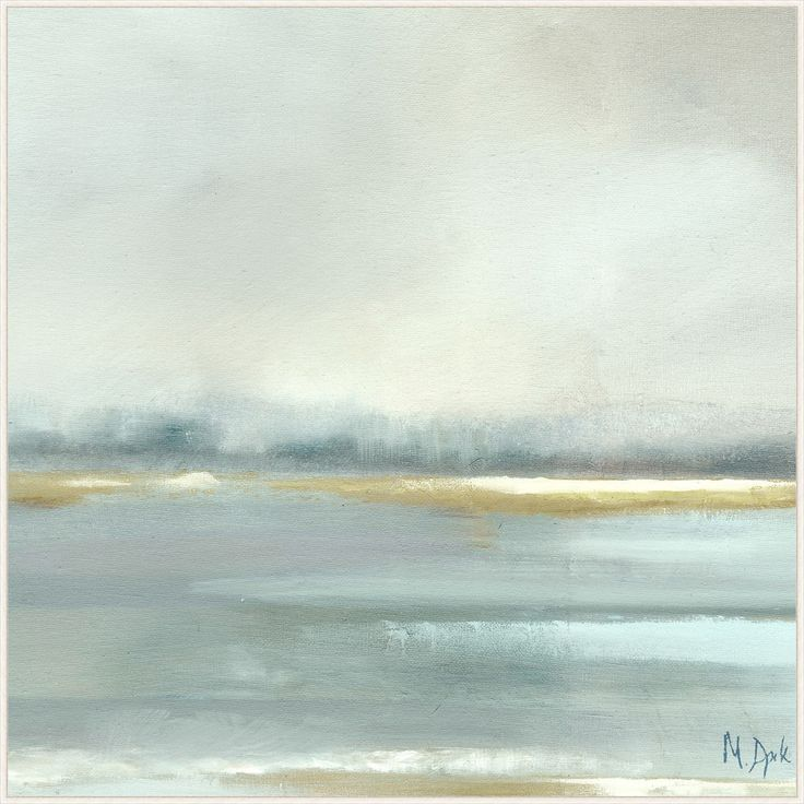 This soft, dusty blue and neutral earth tone painting is soothing and tranquil. It's loose composition is simple and serene. Lovely for a bedroom or any room yo