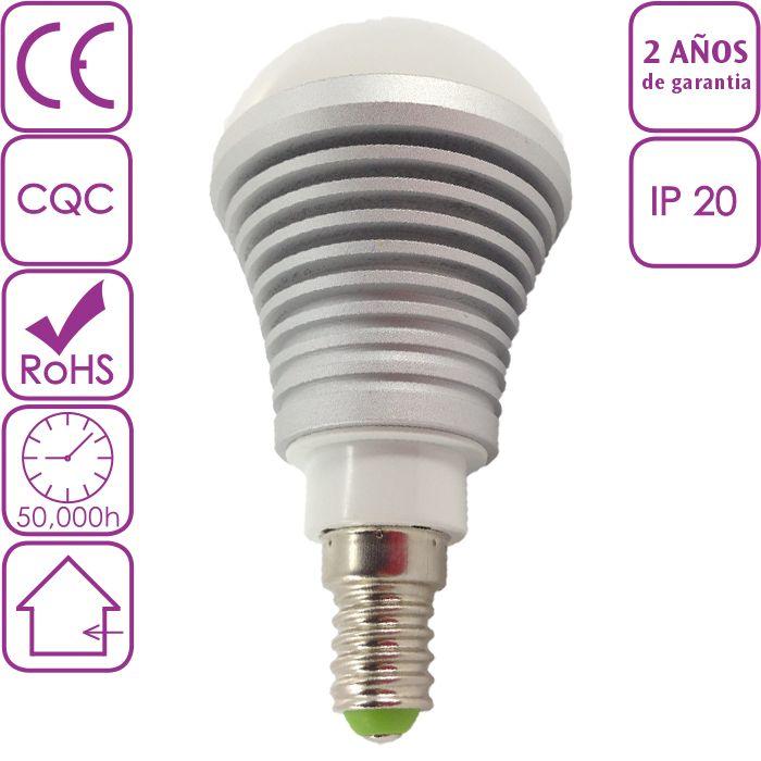 Bombillas LED : Bombilla LED de Rosca E14 5W Blanco frío 6000K