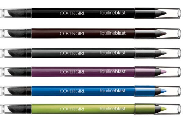 covergirl liquiline blast eyeliner.  love the plum and green glow colors.