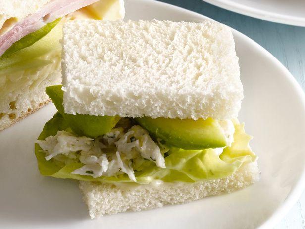 Crab Salad Tea SandwichFood Network, Teas Time, Teas Sandwiches, Tea Sandwiches, Salad Teas, Network Kitchens, Sandwiches Recipe, Crabs Salad, Teas Parties