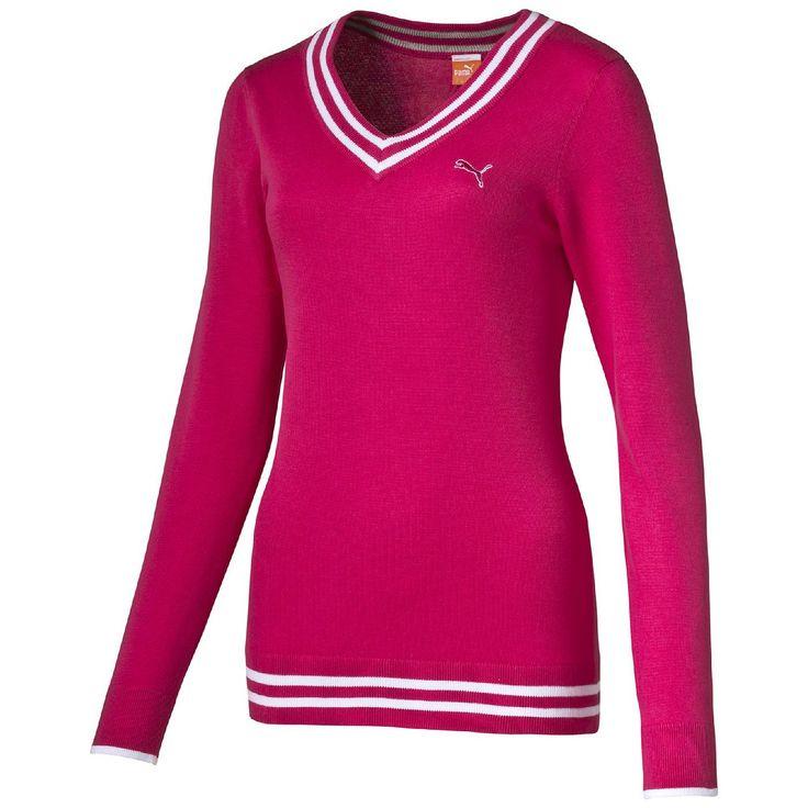 Golf Sweatshirt    Golf Sweatshirt:Dieses klassische Sweatshirt von PUMA Golf mit V-Ausschnitt sorgt dafuer, dass du es bequem hast, waehrend du dich darauf konzentrierst, alles aus deinem sportlich-aktiven Lifestyle herauszuholen.Rippkragen und Rippbuendchen mit Streifendetails.Gesticktes PUMA Cat-Logo und 18-Loch-Logo.100 % Baumwolle: weich, bequem und atmungsaktiv.    Material: 100% Baumwoll...