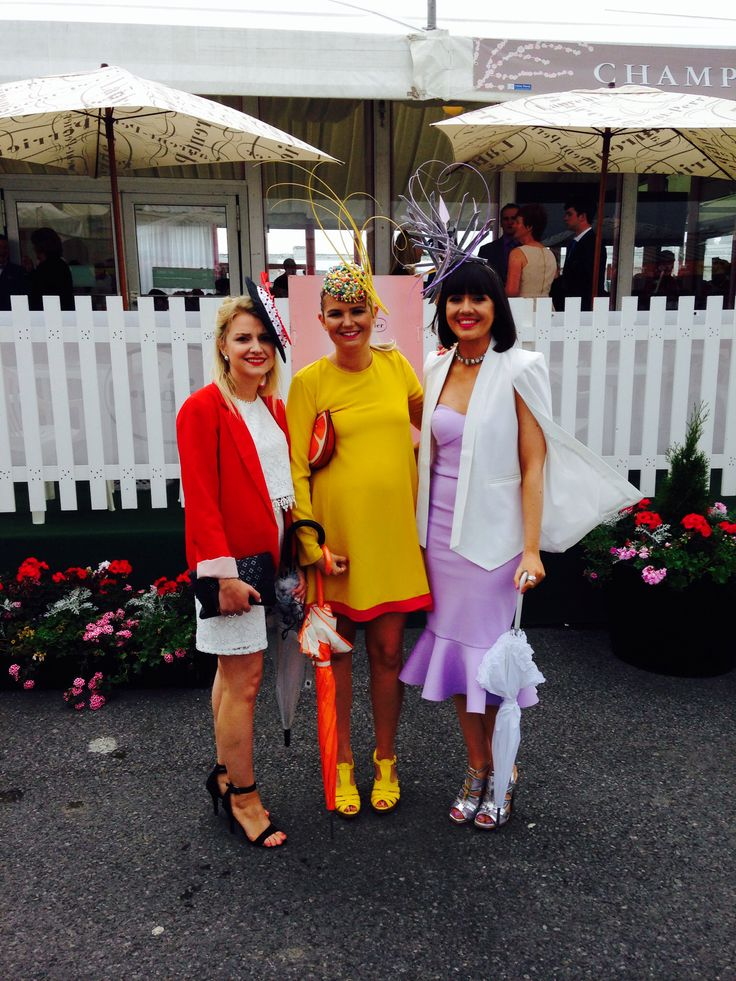 Ladies Day at the Galway Races featuring pieces by Emily O'Regan Millinery!