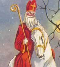 Saint on white horse
