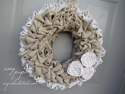 cutest Burlap wreath ever.