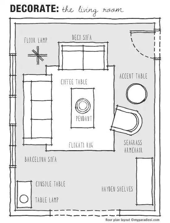 Decorate Your Living Room Floor Plan Furniture Layout Shopping Collection