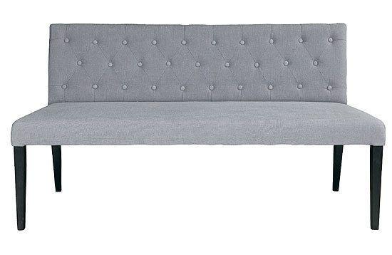 Esstischbank bank liz farbe grau shabby 156 cm esstisch for Esszimmer bank 220 cm