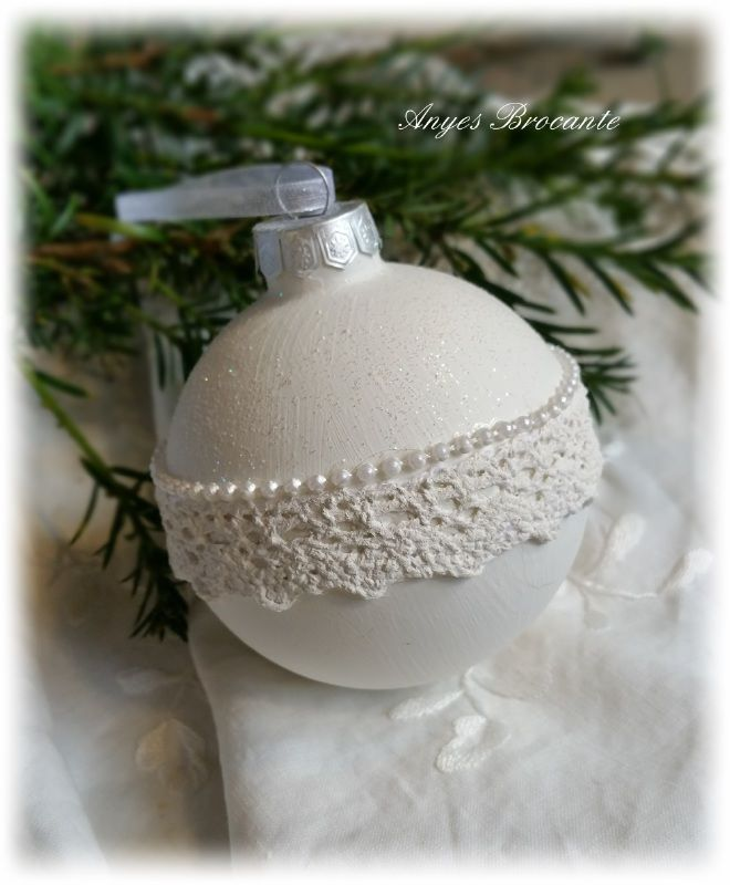 Kerstbal diy kant
