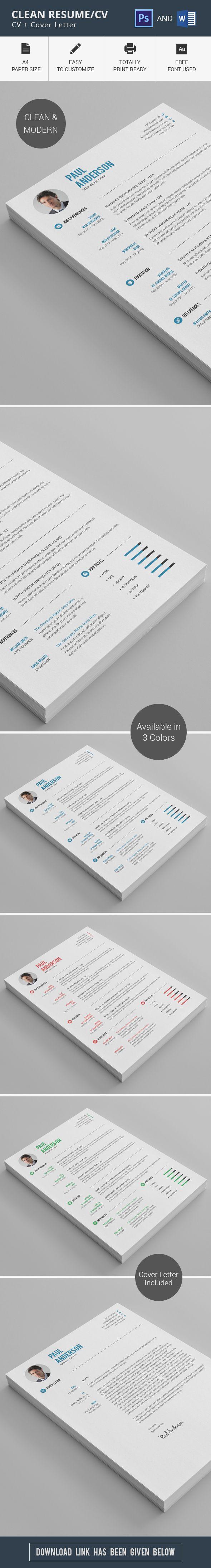 margins for resume%0A Clean Resume CV on Behance