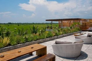 Rooftop Terrace at Villa Mana in Canggu, Bali