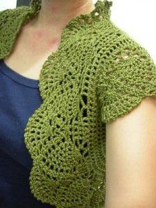 Free Shrug crochet Patterns | shrugs and boleros « Bolero Shrug Boutique
