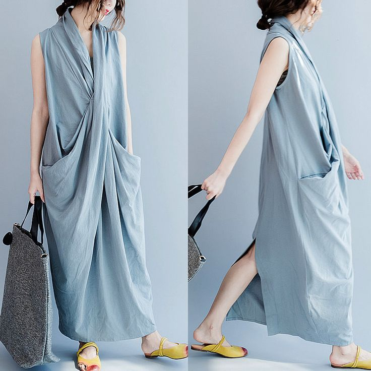 Women summer cotton vest dress .Casual Summer Fashion Style. Very Light and Fresh Look.The perfect look for a summer day shopping at www.buykud.com