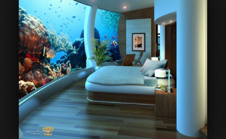 Under water hotel room
