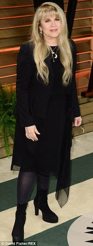 Confirmation: Stevie Nicks, pictured back in February, and Don Henley, seen at a Hall Of Fame ceremony last year once expected a child together according to a new interview