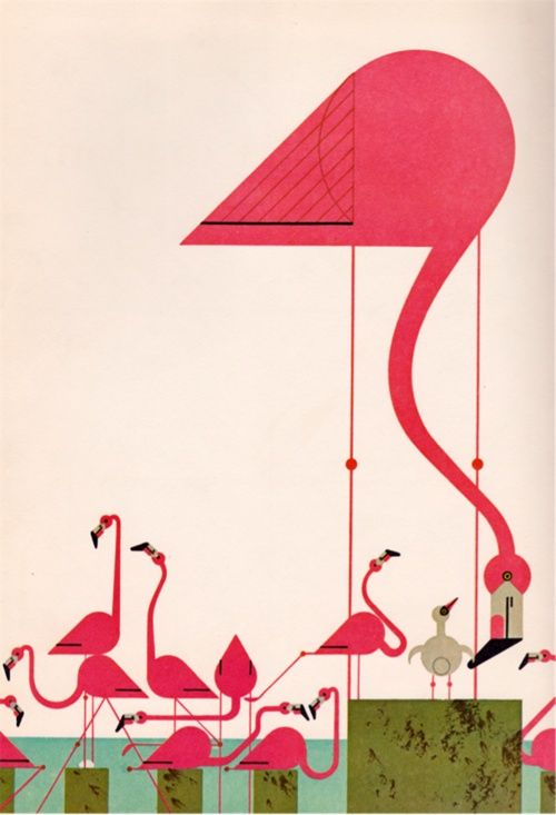 Charlie Harper flamingos