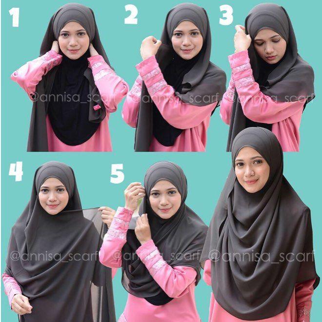 shar'i hijab shawl tutorial - hijab from malaysian instashop @annisa_scarf