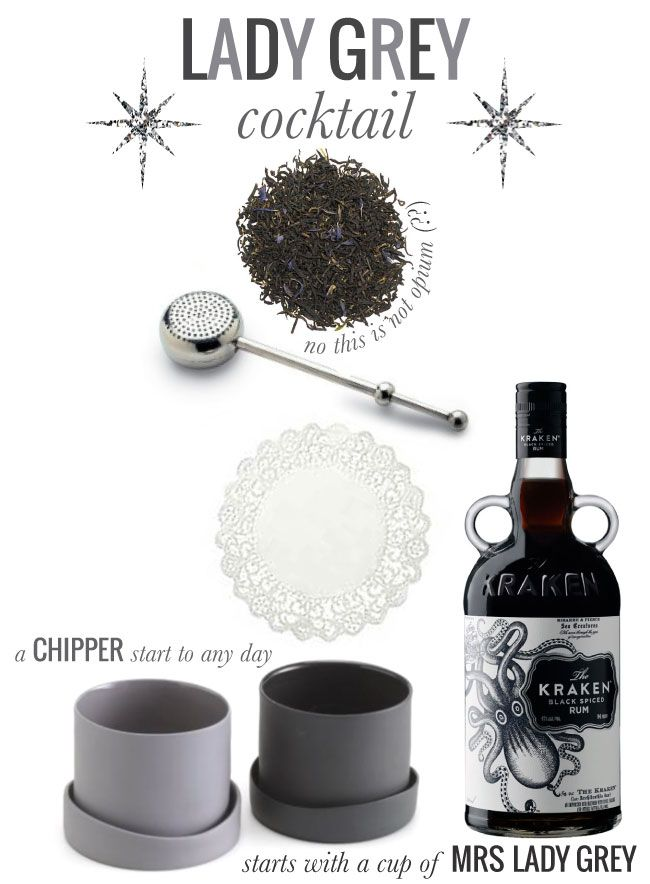 Lady Grey Cocktail. From Mrs. Lilien Blog. Fun Cocktails and Decor.