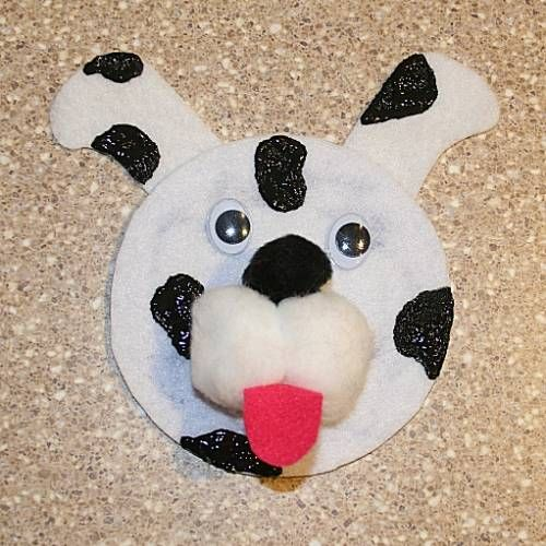 discount fleece by the yard best price on ipad CD Dog Craft    i like using the 2 cotton balls and 1 black pompom for muzzle nose