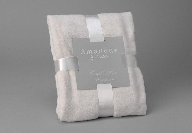 Plaid doudou creme 75x100cm - Amadeus