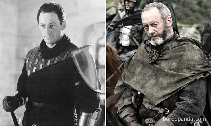 Liam Cunningham As The Onion Knight (In 1995's First Knight) And As Ser Davos (In GoT)