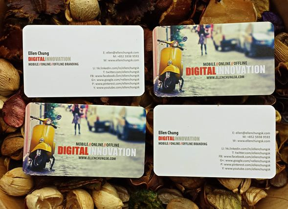 Created by www.ellenchungsk.com | Printed business card for DIGITAL INNOVATION