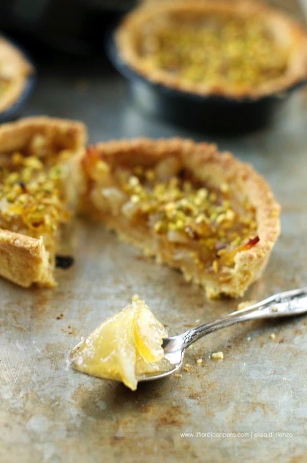 crostata con marmellata di limoni e pistacchi - pie