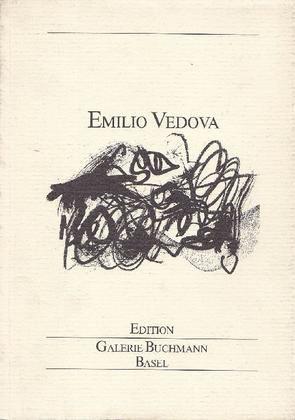 Emilio Vedova. Basel, Edition Galerie Buchmann, 1984. Catalogo di mostra, Galerie Buchmann, Basel autunno 1984. Con 2 disegni di Vedova riprodotti in litografia in prima e quarta di copertina