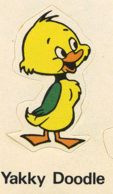 Yakky Doodle sticker
