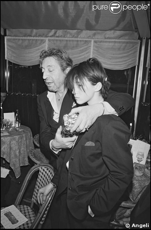 Charlotte Gainsbourg and her father Serge