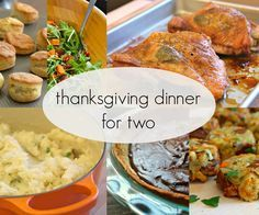 Here's a menu and a quick primer on how to time your Thanksgiving dinner for just two.
