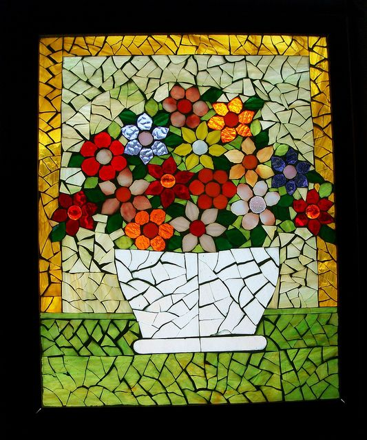 Mosaic #flowers        #mosaic #design