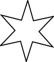 Estrellas de Navidad para colorear