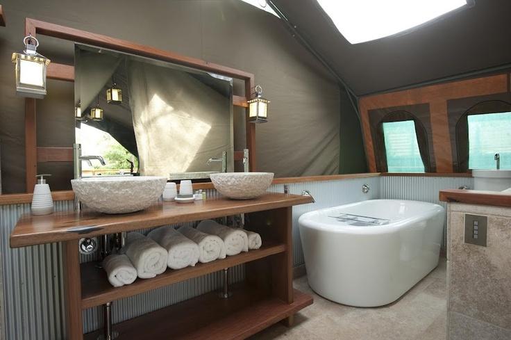 Glamping Bathroom At Lane Cove River Caravan Tourist Park