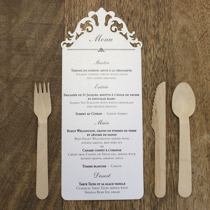 10 best menus images on pinterest originals wedding for Idee menu original