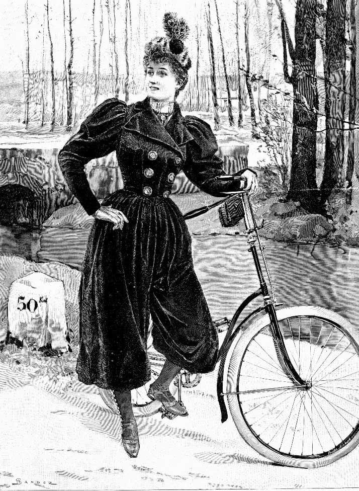 Victorian Bicycling costume