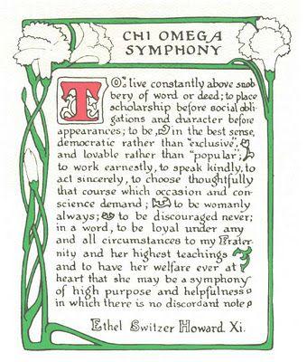 Chi Omega Symphony