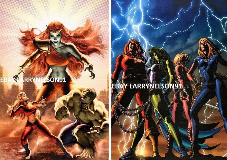 SAVAGE SHE-HULK POSTER #1 #34 MS MARVEL THUNDRA SUE STORM FANTASTIC FOUR GREEN H
