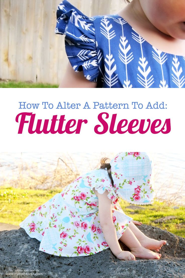 Darling Details ❤ ~ How to add FLUTTER SLEEVES to your patterns or existing clothing! | www.makeit-loveit.com