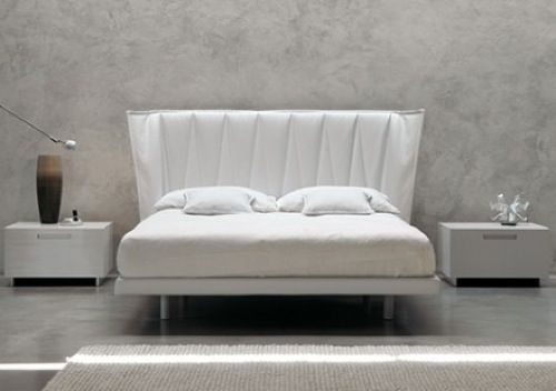 Modern White Bed by MD House