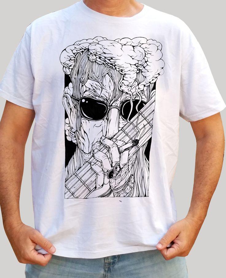 Head in Smoke -  White Shirt