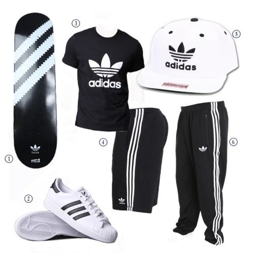 adidas outfits for men
